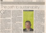 The Path to Sustainability